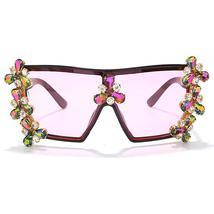 Oversized Colorful Diamond Sunglasses Women Luxury Fashion One Piece Square Sung image 13