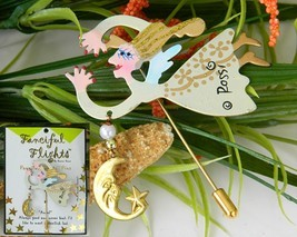 Flying Angel Lapel Stick Pin Fanciful Flights Karen Rossi - $9.95