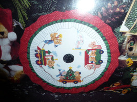 "Designs for the Needle Christmas Tradition 9"" Train Tabletop Tree Skirt ... - $19.00"