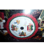 """Designs for the Needle Christmas Tradition 9"""" Train Tabletop Tree Skirt ... - $19.00"""