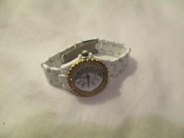 Geneva Women's White & Gold Toned Link Band Wristwatch - $29.00