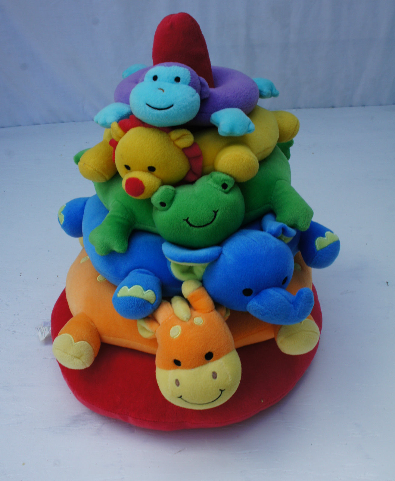 Koala Baby Stacker Animals Rings Toy Multi Color Red Soft