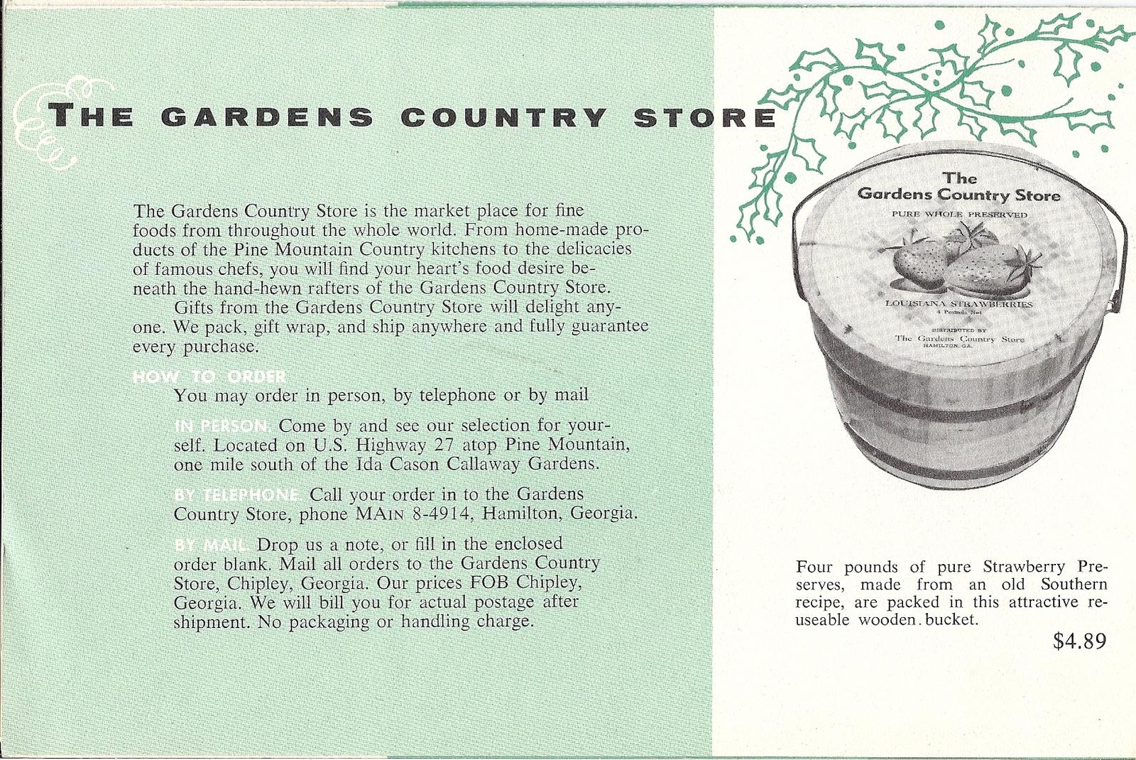 Callaway Gardens Country Store Vintage Brochure Georgia