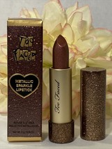 Too Faced Metallic Sparkle Lipstick -That Girl- New In Box Authentic Fre... - $21.78