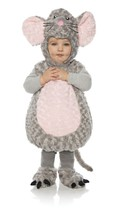 Underwraps Mouse Ventre Bambini Felpa Animali Bambini Costume Halloween 25710 - $31.54