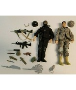 Vintage Lot of 2 G.I. JOE Action Figures 1996 Hasbro Weapons Gear Accessories - $24.99