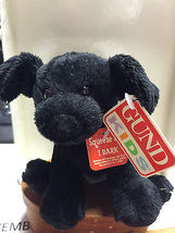 20Gund Kids Animal Chatter Black Dog 0251 Works Barks & Pants - $9.75