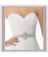 Bridal Accessories Crystal Trim Rhinestone Beaded Applique Wedding Sash ... - $72.94
