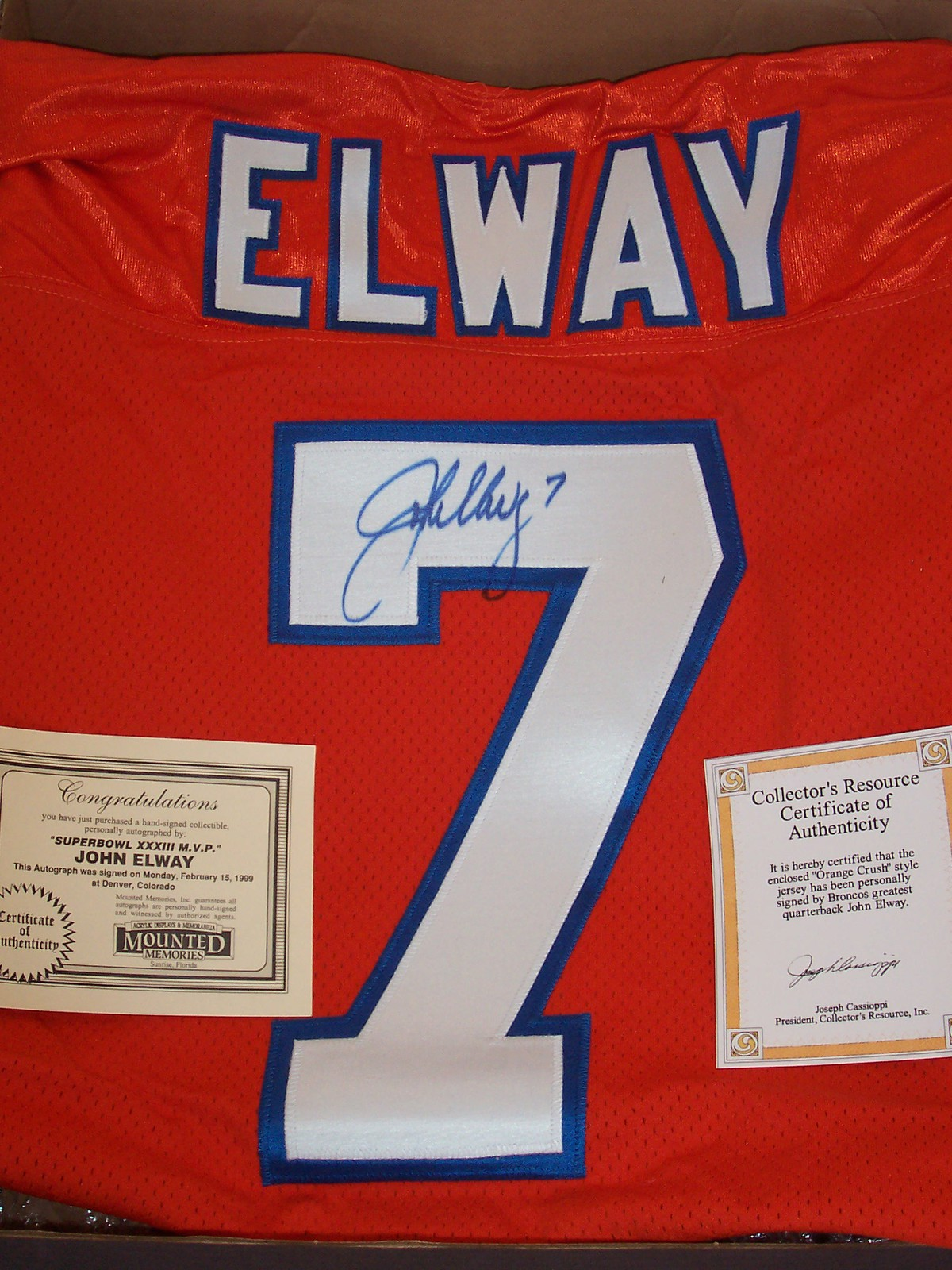 check out eeb6b 36595 John Elway Autographed Orange Crush Jersey and 29 similar items