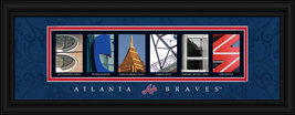 Atlanta Braves Officially Licensed Framed Letter Art - $39.95