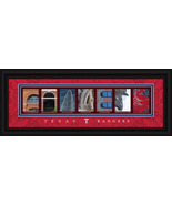 Texas Rangers Officially Licensed Framed Letter Art - $39.95