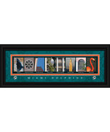 Miami Dolphins Officially Licensed Framed Letter Art - $39.95