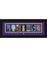 Minnesota Vikings Officially Licensed Framed Letter Art - $39.95