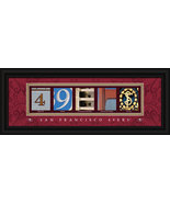 San Francisco 49ers Officially Licensed Framed Letter Art - $39.95