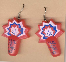 Firecrackers Earrings 4th Of July New Year Party Fireworks Funky Costume Jewelry - $5.97