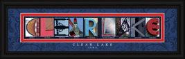 Clear Lake, Iowa Framed Letter Art - $39.95
