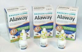 3pk Bausch + Lomb CHILDRENS Alaway Antihistamine Eye Drops 5ml bottles - $22.88