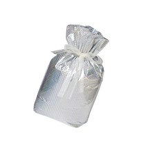 TGNJ Products 2-Piece Drawst Gift Bags, Jumbo, Silver - $20.99