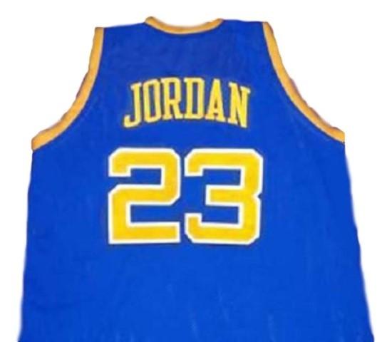 reputable site 34214 77481 Michael Jordan #23 BUCS Laney High School New Basketball Jersey Blue Any  Size
