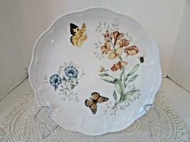 """LENOX CHINA  DINNER PLATE BUTTERFLY MEADOW MONARCH LAURIE LE LUYER 10-3/4"""" - $16.78"""