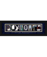 Plymouth, Massachusetts Framed Letter Art - $39.95