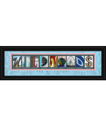 Wildwoods, New Jersey Framed Letter Art - $39.95