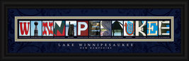 Lake Winnipesaukee New Hampshire Framed Letter Art - $39.95