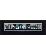 Wilmington, Massachusetts Framed Letter Art - $39.95