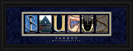 Saugus, Massachusetts Framed Letter Art - $39.95
