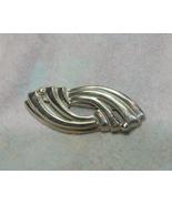 Vintage Silver Twist Brooch - $4.00