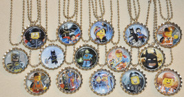 Set of 15- LEGO MOVIE Bottlecap NECKLACES! Great for birthday party favors - $14.99