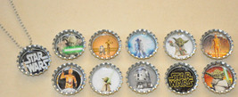 Set of 11 different STAR WARS Bottle Cap Necklaces! #3 Great for birthda... - $11.00