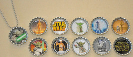 Set of 11 different STAR WARS Bottle Cap Necklaces! #1 Great for birthda... - $11.00