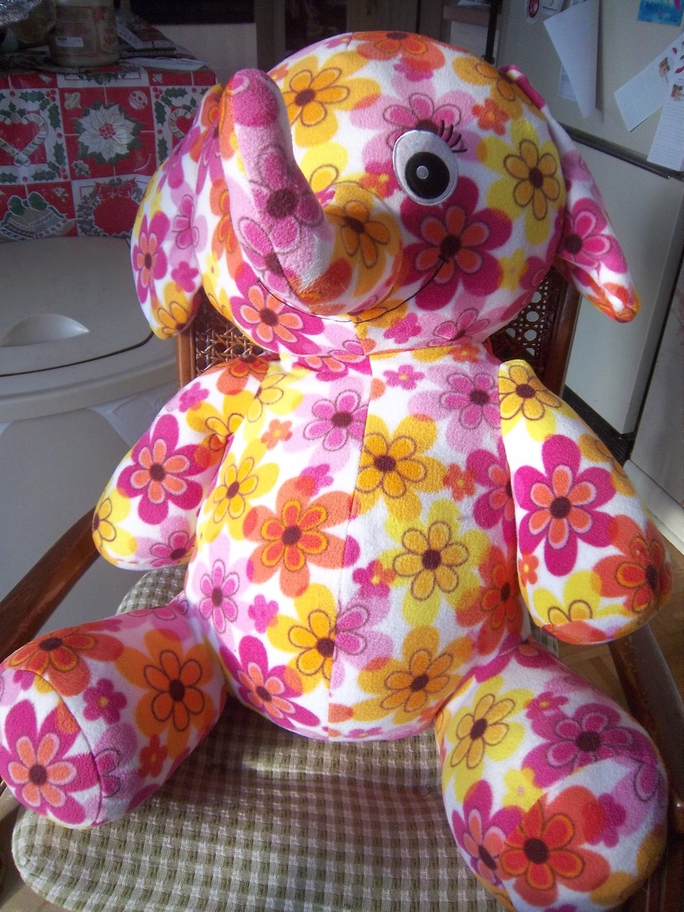 Large Stuffed Elephant from Toys R Us, Magnolia, Plush, Colorful, New with Tags