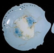 """Rosenthal China Antique 2 Plates Pastel Blue MINT Pierced Hand-Painted Savoy 6"""" - $19.75"""