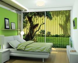 3D Meadow Tree 121 Blockout Photo Curtain Print Curtains Drapes US Lemon - $177.64+