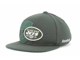 New York Jets NFL Reebok Flat Bill Stretch Fitted Hat New - €15,83 EUR