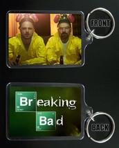 BREAKING BAD keychain / keyring Aaron Paul Bryan Cranston JESSE & WALTER... - $7.91