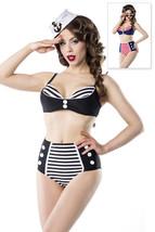Vintage Bikini Set Retro Marine Look 50er Rockabilly Pin Up Bademode Top - ₹3,533.77 INR