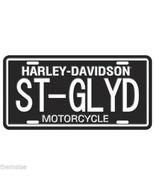 HARLEY DAVIDSON MOTORCYCLE ST-GLYD BLACK CAR METAL LICENSE PLATE MADE USA - $27.07