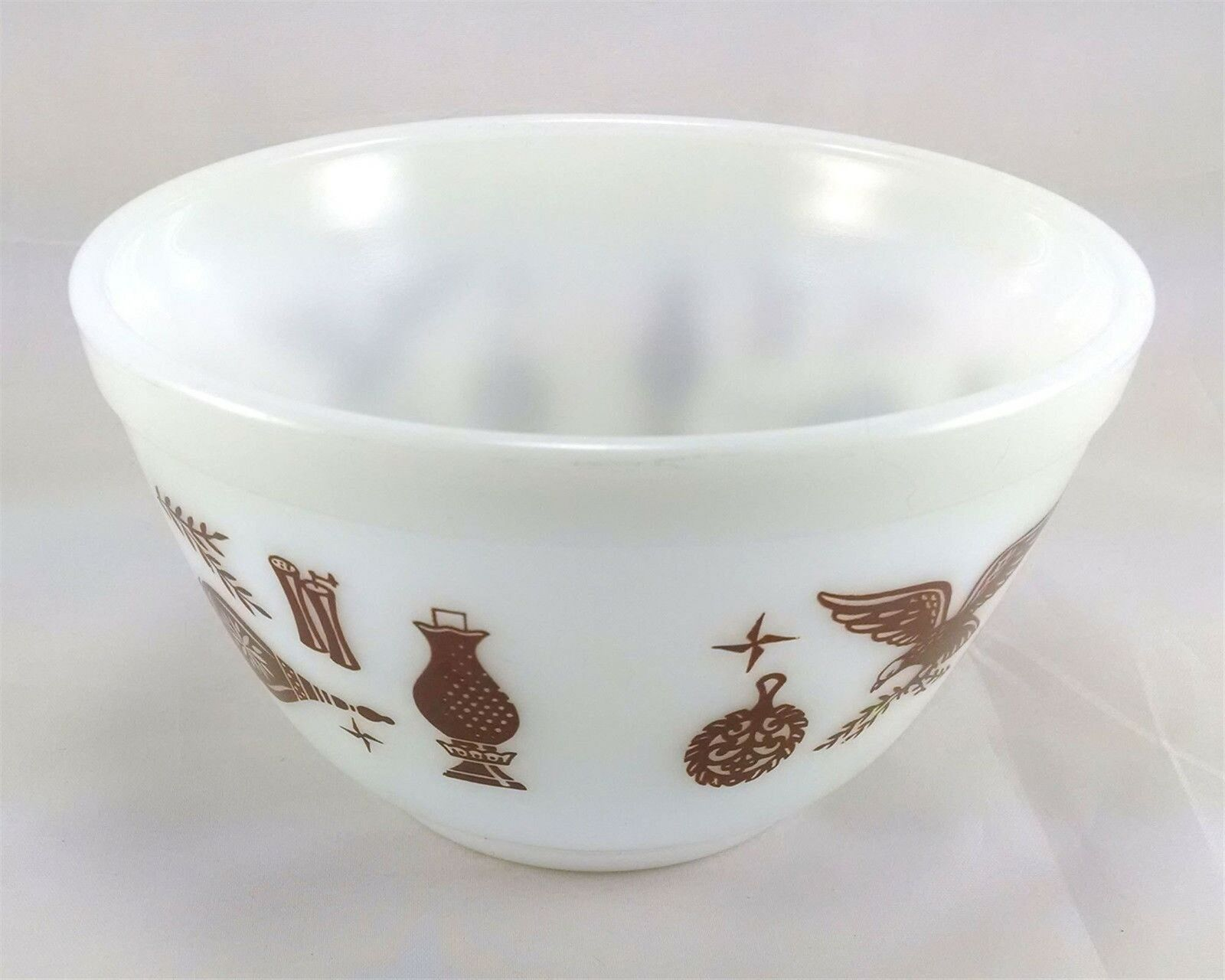 Pyrex 401 Americana 1 1/2 Pint Vintage Serving Mixing Bowl image 2