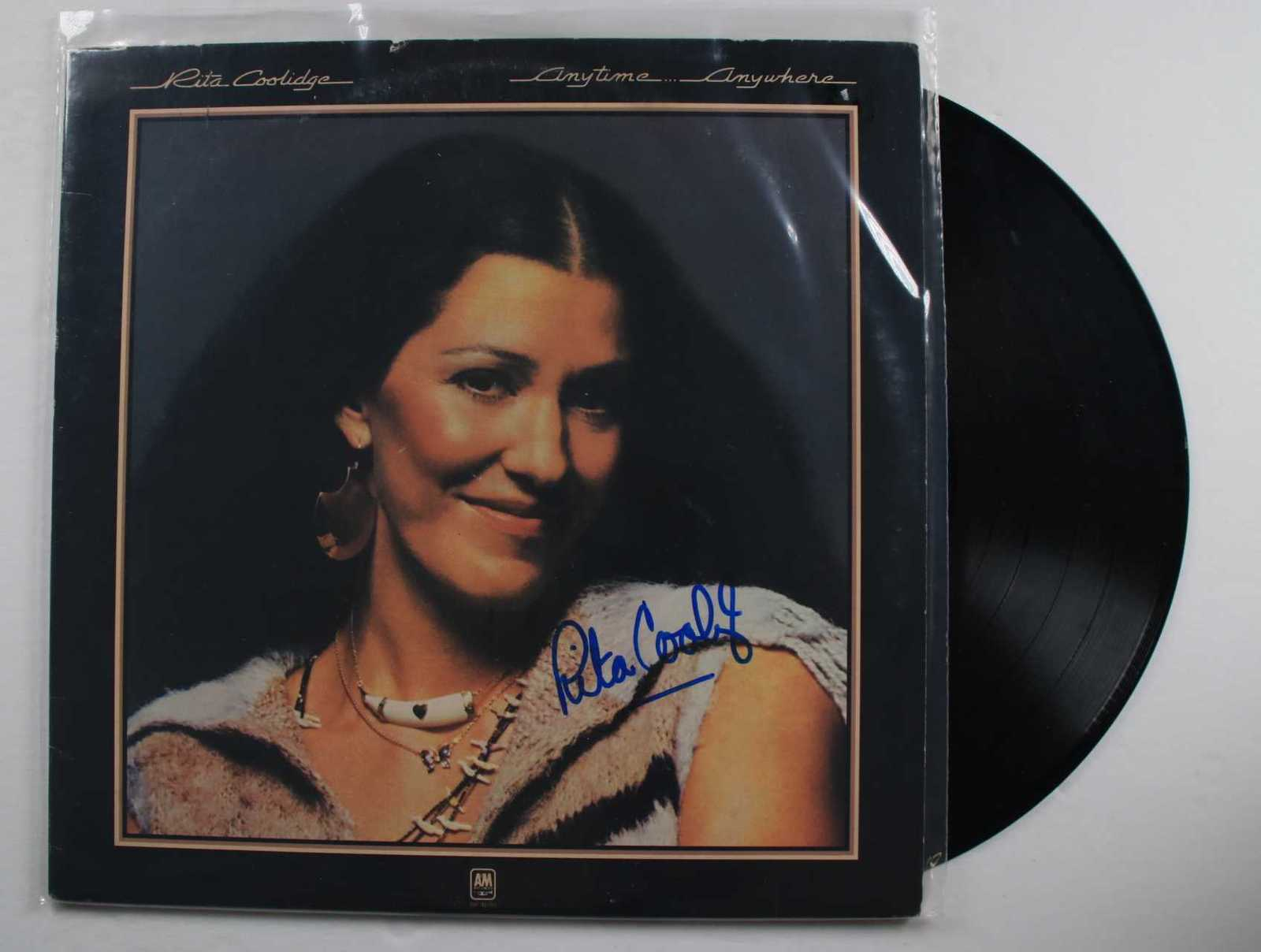 "Primary image for Rita Coolidge Signed Autographed ""Anytime Anywhere"" Record Album"