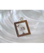 Estate Best Signed Silvertone Open Rectangle with Palm Tree on Island & ... - $9.49