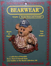 "Boyds Bearwear ""Greg McBruin..The Windup"" Resin Baseball Pin- #26141-New-Retired - $10.99"