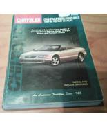 CHILTON 95-98 CHRYSLER CIRRUS SEBRING STRATUS AVENGER & BREEZE REPAIR MANUAL - $7.18