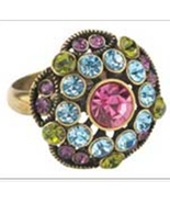 Wholesale Rings with rhinestone gems classic rosette shape Pack 24 - $79.95