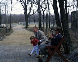 President John F. Kennedy with Red Fay and JFK Jr. at Camp David New 8x1... - $8.81