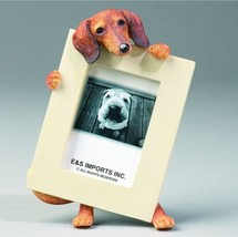 """DACHSHUND RED DOG PHOTO PICTURE FRAME GIFT RESIN 2-1/2""""X3-1/2"""" - $14.95"""