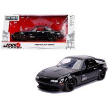 1990 Mazda Miata Endless Glossy Black JDM Tuners 1/24 Diecast Model Car ... - $32.30