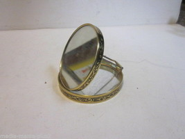 VINTAGE 1960'S PEARL PLASTIC AND BRASS MULTI PURPOSE CONPACT WITH MIRROR - $9.99